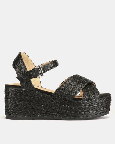 Madison Behati Braide Wedge Sandals Black
