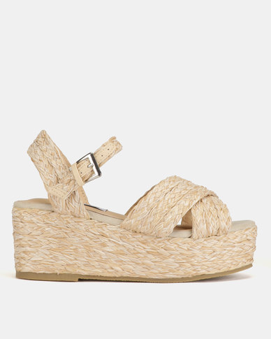Madison Behati Braide Wedge Sandals Nude