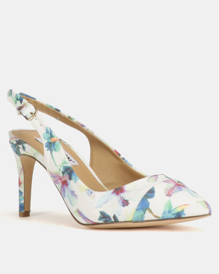c0efedd5ac0 Madison Adrianna Slingback Courts White Floral