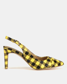Madison Adrianna Slingback Courts Yellow Gingham