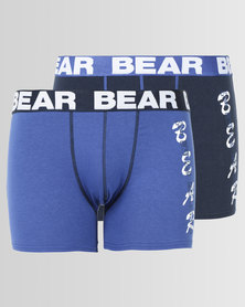 Bear 2pk Bear Techno Print Bodyshorts Blue