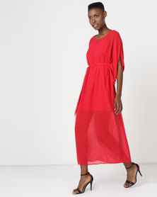 Utopia Maxi Tunic Dress Red