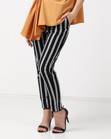 Utopia Stripe Trousers Black/White