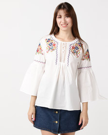 Utopia Embroidered Tunic White