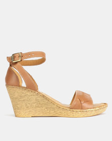 Tsonga Leather Totoba Wedges Hazel Relaxa