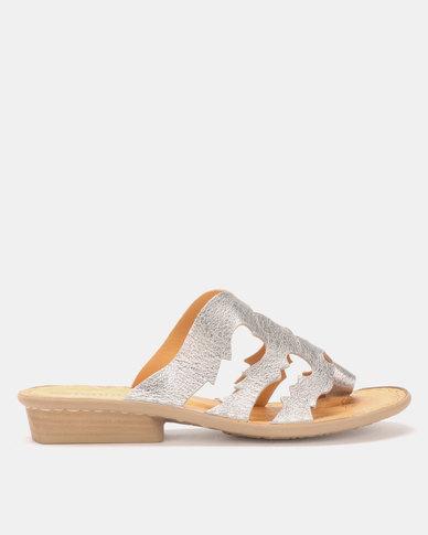 Tsonga Leather Holwozi Sandal Talio  Grid Silver