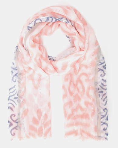 Lily & Rose Patterned Scarf Pink