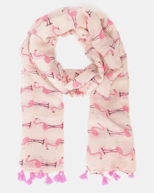 Lily & Rose Flamingo Scarf Pink
