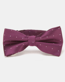 Xcalibur Bowtie Purple/Silver Dots