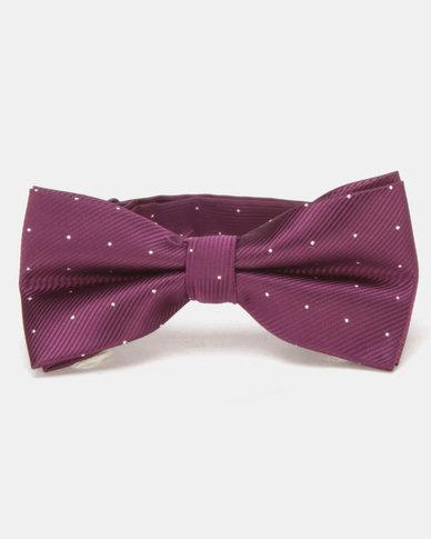 Xcalibur Bowtie Purple/Silver Dots