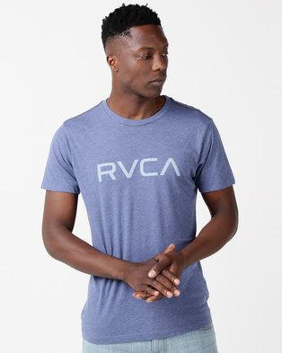 f0b2854c21f9d RVCA Big RVCA VD Short Sleeve Tee Surplus Blue