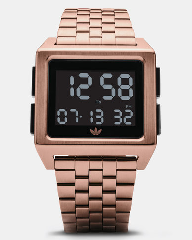 separation shoes 21158 2aaef adidas Originals Watches Archive M1 Watch Rose Gold-plated Black   Zando
