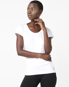 ASICS Cap Sleeve Top White