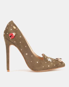 Miss Black Celyn Heels Olive