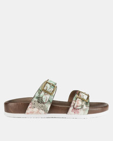 Franco Ceccato Two Bar Buckle Trim Push In Sandals Pink