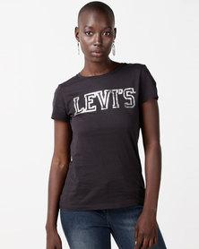 Levi's® Slim Crew Logo Tee Black