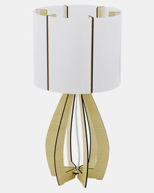 Eurolux Cossano Table Lamp Maple Wood