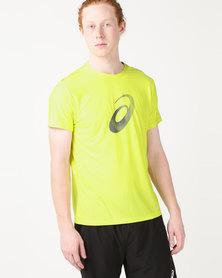 ASICS Graphic Short Sleeve Top Yellow