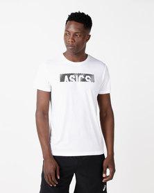 ASICS Essential Diagonal Short Sleeve Top White