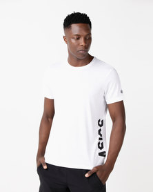 ASICS ESNT DBL GPX Short Sleeve Top White