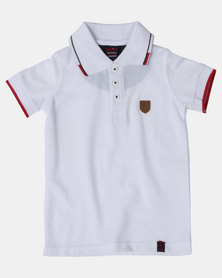 Soviet Boys Swansea Short Sleeve Pique Golfer White