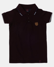 Soviet B SWANSEA Short Sleeve Pique Golfer Bordeaux