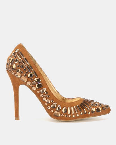 Dolce Vita Jewelled Courts Brown
