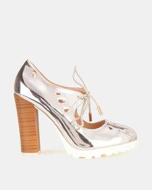 Dolce Vita Algarve Laser Heels Silver