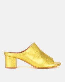 Dolce Vita Moonshine Heel Slides Yellow Gold