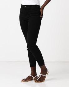 New Look Stretch Slim Leg Trousers Black