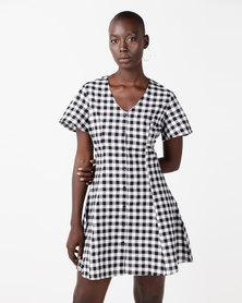 Daisy Street Cotton Dress Gingham Check