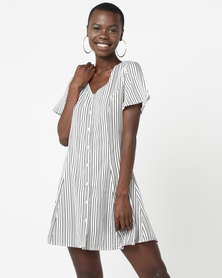 Daisy Street Cotton Dress Stripe