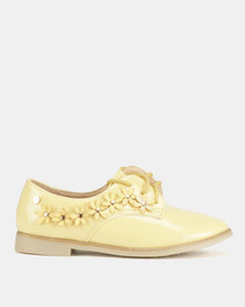 Dolce Vita Charlotte Flower Brogues Yellow