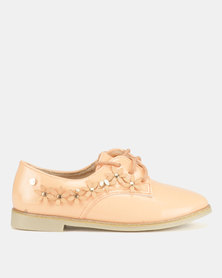 Dolce Vita Charlotte Flower Brogues Orange