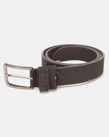 Soviet Agila Emboss Textured PU Belt Black