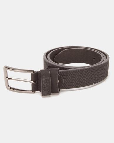 Soviet Agila Emboss Textured PU Belt Black