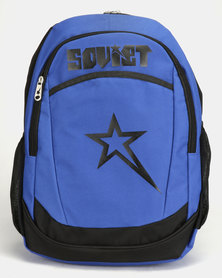 Soviet Hannover Contrast Backpack Black/Royal