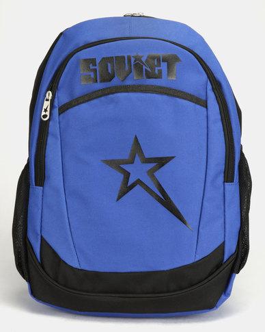 Soviet Hannover Contrast Backpack Black/Royal