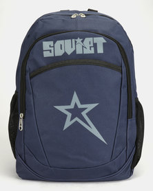 Soviet Hannover Contrast Backpack Navy