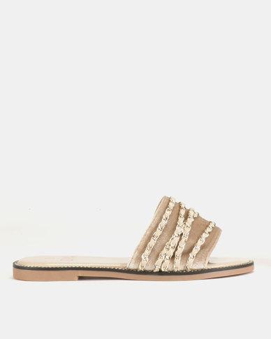 Dolce Vita Laguna Slip On Sandals Taupe