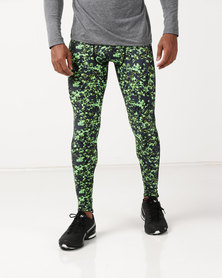 Bfit Active Wear Midnight Camo Tights Green/Black