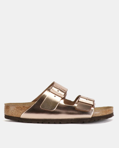 c3a8464e66e Birkenstock Arizona SFB Leather Sandals Metallic Copper
