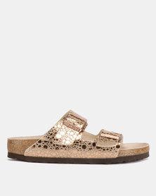 Birkenstock Arizona Narrow Fit Sandals Metallic Stones Copper