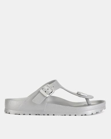 abdcdce63e6d Birkenstock Gizeh EVA Sandals Metallic Silver