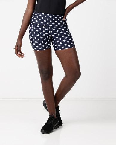 f86794612af58 Bfit Active Wear Starry Short Tights Black White