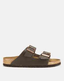 Birkenstock Arizona Leather Sandals Dark Brown