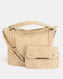 Blackcherry Bag 2 Piece Shoulder bag and Crossbody Bag Set Desert Sand
