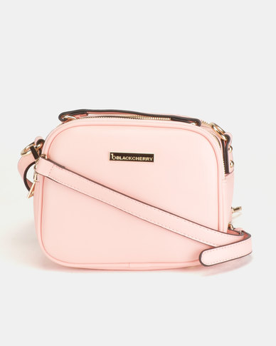Blackcherry Bag Top Handle Crossbody Bag Dusky Pink