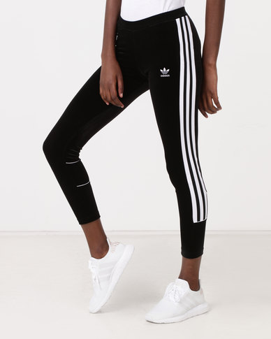 ad5666dd0c5 adidas Originals Velvet Tights Black | Zando