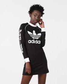 adidas Originals Long Sleeve Dress Black